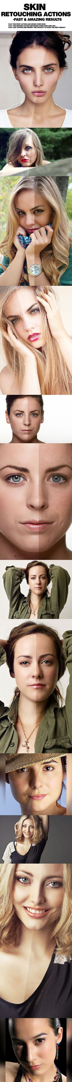 PRO Skin Retouching Photoshop Actions #photoeffect Download:Photoshop tips. Nordic360.