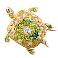 1stdibs - Victorian Demantoid Garnet Turtle Brooch explore items from 1,700  global dealers at 1stdibs.com