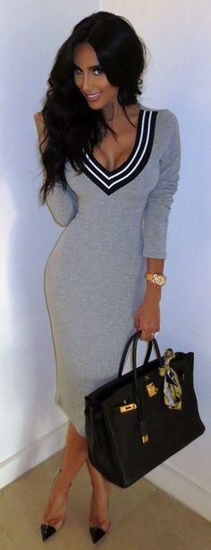 Fashion cute grey hot dress