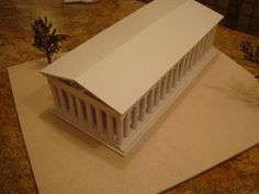 The Parthenon Athens Greece Model - Instructables Greece Architecture, Ancient Greek Architecture, Classic Architecture, Building Architecture, Gothic Architecture, Mykonos Greece, Athens Greece, Crete Greece, Ancient Greek Art