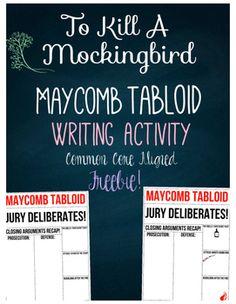 To Kill A Mockingbird Free Tabloid Writing Activity