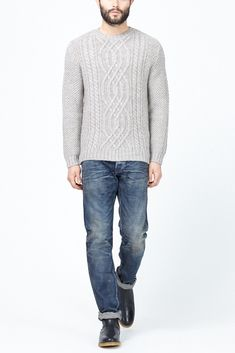 A.P.C. Andes Island Pullover (Light Grey)