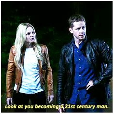 """""""Look at you becoming 21st century man."""" Emma - 4 * 2 """"White Out"""" #CaptainSwan"""