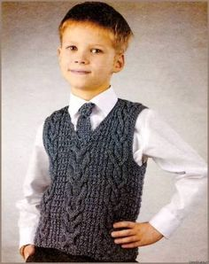 knitted vest for baby boy Baby Boy Knitting Patterns, Knitting For Kids, Crochet Baby Sweaters, Knit Vest Pattern, Baby Vest, Crochet For Boys, Boys Sweaters, Handmade Clothes, Creations