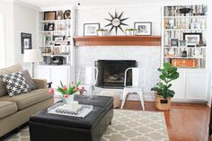 Neutral Family Room Makeover