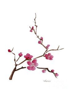 Cherry Blossoms 1 Painting  - Cherry Blossoms 1 Fine Art Print