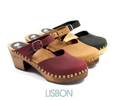 The Lisbon Swedish clogs are a beautiful and sophisticated traditional style clog sandal. It features elaborate detailing, including the Ugglebo Clogs Owl logo on the heel strap and is perfect for those warm, sunny casual days or for adding some extra flare to your current wardrobe. #clogs #Ugglebo