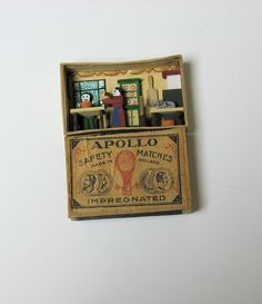 One of the best MatchBox toys I've found, and it is vintage.  https://www.etsy.com/listing/198629443/kitchen-in-a-matchbox