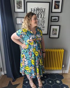 """Bethan (she/her) on Instagram: """"I made this dress in lockdown 1. It's a #SoiPennyDress by @sewoveritlondon the fabric is a viscose from @rainbowfabrickilburn it's light…"""""""