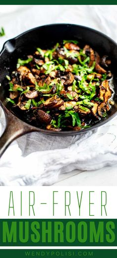 Mushrooms are my go-to forever favorite when it comes to adding a little something extra to steak, burger, chicken, pizza, or a wrap. It doesn't get much better than these Air Fryer Mushrooms. Perfectly cooked mushrooms in a lemon garlic butter sauce ensure that dinner bliss is imminent. Steak And Mushrooms, Garlic Mushrooms, Creamy Mushrooms, Stuffed Mushrooms, Stuffed Peppers, Cooking With White Wine, Cooking Wine, Lemon Garlic Butter Sauce, Air Fryer Healthy