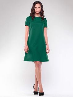 Retro dress Green dress Dress short sleeve by Annaclothing Retro Dress, Green Dress, Cold Shoulder Dress, Short Sleeve Dresses, Spring Summer, Summer Dresses, Trending Outfits, Stylish, My Style