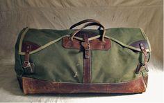 Vintage leather & canvas bag