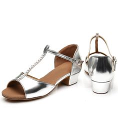 Golden Silver PU Latin Dance Shoes Woman Girls Salsa Ballroom Dancing Shoes Zapatos De Baile Latino Mujer