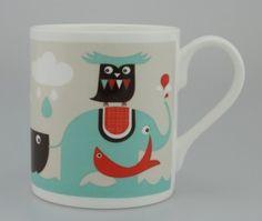 Elephant and Owl Mug Isak