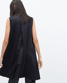 STUDIO WAISTCOAT WITH BACK OPENING-Jackets-WOMAN | ZARA United States