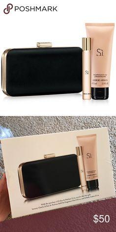 c7dcb382d93b Shop Women s Giorgio Armani size OS Clutches   Wristlets at a discounted  price at Poshmark. Description  Giorgio Armani beauty set new ( perfume  roller Si ...