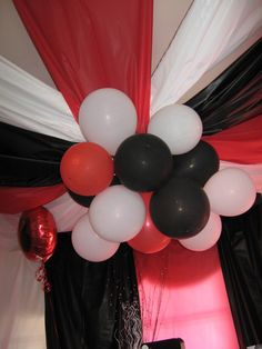red black and white party decorations - Google Search