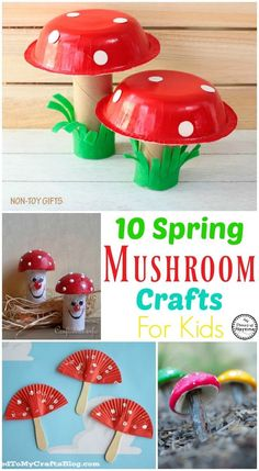 Are you ready for a fun spring craft? Try out one of these 10 adorable Spring Mushroom Crafts for kids. Finger puppets, tp rolls, cupcake liners and more. Daycare Crafts, Preschool Crafts, Easter Crafts, Fun Crafts, Arts And Crafts, Movie Crafts, Budget Crafts, Spring Crafts For Kids, Summer Crafts
