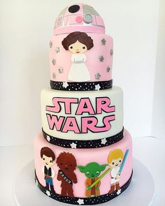 When you have a girl and she wants to have Star Wars birthday party.... More