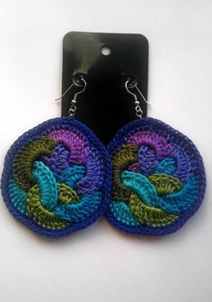 Fruit Loops Crochet Earrings.