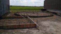 Forms set for small grain bin & dryer slab