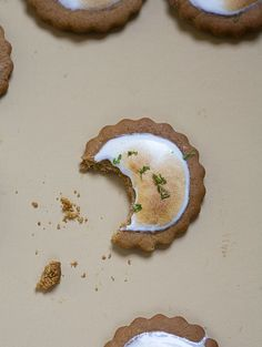 Key Lime Pie Cookies recipe via A Cozy Kitchen ... interesting... may need to try making these.