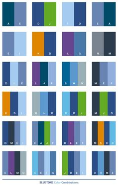 Blue tone color combinations:
