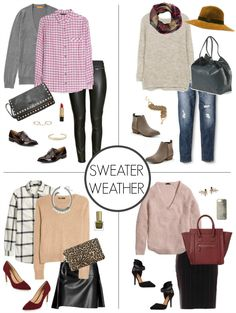 Now that there's finally a slight chill in the air, it's time to pull out those warmer knits & layer up! I have been favoring a lot of plaid and (faux) leather in my wardrobe this season, which is definitely reflected in this month's round-up. I tried to create several different looks for both wor