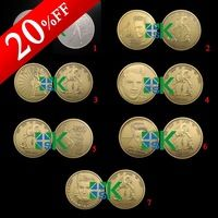 7pcs/lot  Free shipping ELVIS PRESLEY Souvenir coins High quality The Rock & Roll Music Stars coins