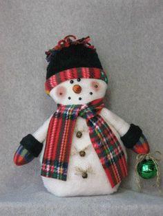 Snowman pattern: Happy Holidays 464 por adelinescrafts en Etsy