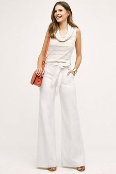 7 For All Mankind Belted Palazzo Pants #anthropologie