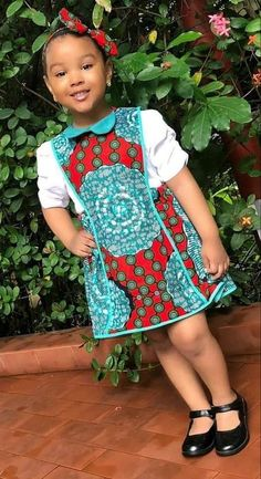 She looks like a beautiful foll Baby African Clothes, African Dresses For Kids, Latest African Fashion Dresses, African Print Dresses, Baby Girl Party Dresses, Kids Outfits Girls, Little Girl Dresses, Girl Outfits, African Shirt Dress