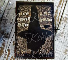 Altered Art The Witch And The Crow Wood Box by VeenasMercantile, $65.00