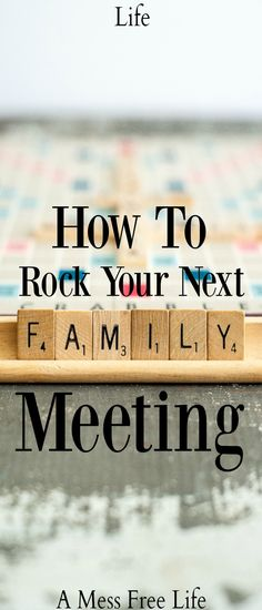 Family Meetings That Rock  Rock Parents And Family Goals