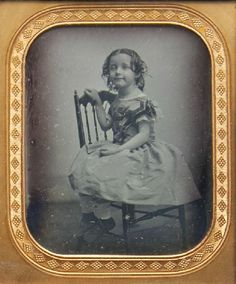 ca. 1850, [daguerreotype portrait of a young smiling girl] via the Historical Society of Pennsylvania, Dr. and Mrs. Henry Drinker Collection of Miscellaneous Family Papers