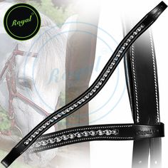 Royal Designer Spiral White Pearl U-Shaped Crystal Brow Band. Regular price $48 Sale price $38 (Black)
