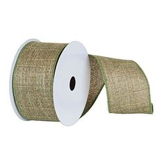 2.5 inch Sage Soft Woven Burlap Christmas and Craft Ribbon. 2.5 inch x 10 Yards in Length Sage Wired Edge and Matching Backing.
