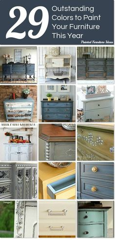 29 Outstanding Colors to Paint Your Furniture This Year ~ think outside the box when it comes to coloring your world.