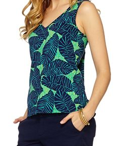 Lilly Pulitzer GiGi V-Neck Tank Top in Under the Palms  Thank you Michelle for pointing it out...think it will be a great fall addition.