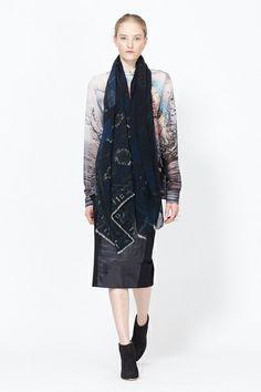 Pierre Louis Mascia Knit Scarf (Dark Blue Multi)