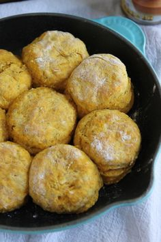 Pumpkin Sage Biscuits: Fluffy buttermilk biscuits loaded with pumpkin and sage make for the perfect fall carb.