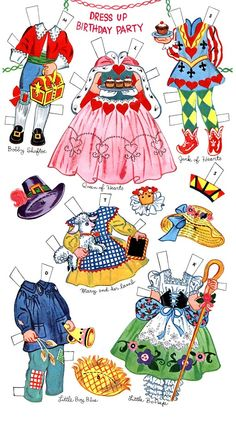 (⑅ ॣ•͈ᴗ•͈ ॣ)♡                                                            ✄Paper Dolls~Birthday Party - Bonnie Jones - Álbumes web de Picasa