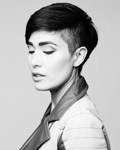 portrait of an undercut // short hair // cable car couture
