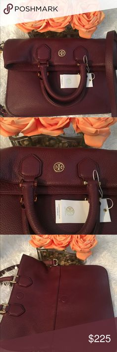 🆕💄TORY BURCH MESSENGER BAG💄 The epitome of understated chic, the Robinson Pebble Fold-Over Bag is as polished as it is practical. It can be worn multiple ways; across the body with a strap, carried as a too-handled bag, or used as an oversized clutch. Made of super soft, richly textured leather, the versatile design is finished with a zip-around gusset that allows for some extra room. It has an interior zippered pocket and two open. Adjustable/removable strap. Comes with dust bag…