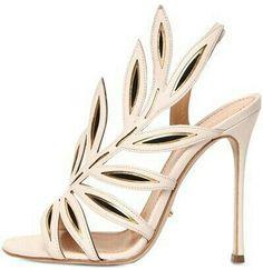 1d8f2b4451a sergio rossi leaf-detailed sandals via  Delilah Blake · Shoes