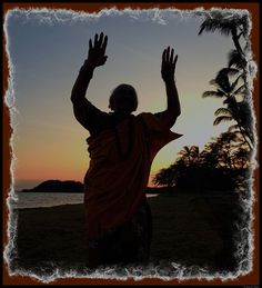 Tonight, on the beach, my favorite Molokai auntie - Auntie Kauila - raised her hands toward heaven in a elegant gesture of hula. But it is the gesture of her life that truly inspires me. She is a treasure!   From Dewitt Jones at http://www.Facebook.com/dewittjonesfanpage - all images Creative Commons non commercial