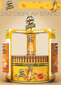 Pringles Displays on Behance Shop Display Stands, Pos Display, Store Displays, Display Design, Booth Design, Banner Design, Pos Design, Stand Design, Retail Design