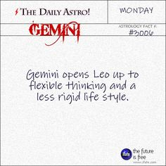 Daily Gemini Astrology Fact: Have you seen your Gemini horoscopefor today yet??  Visit iFate.com now! And for more astrology factoids, check out thedailyastro.com !
