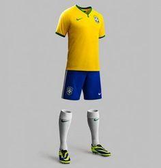 Uniforme 1 da Seleção Brasileira na Copa 2014