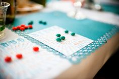 Modern orange and turquoise beach wedding_Laurel McConnell Wedding Bingo, Wedding Games, Wedding Ideas, Orange And Turquoise, Bingo Cards, Rehearsal Dinners, Color Inspiration, Wedding Colors, Markers
